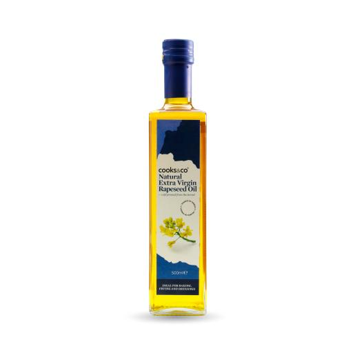 100% Pure Cold Pressed Rapeseed Oil 500ml