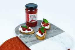 Goats Cheese & Red Pepper Crostini