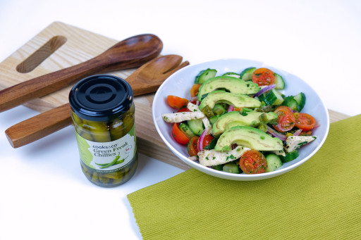 Spicy Chicken, Avocado and Chilli Salad