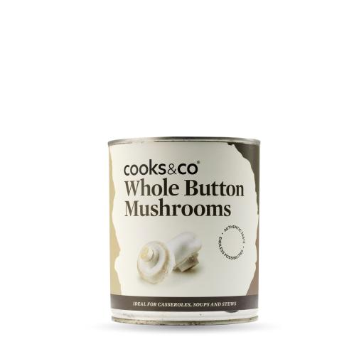 Whole Button Mushrooms 800g