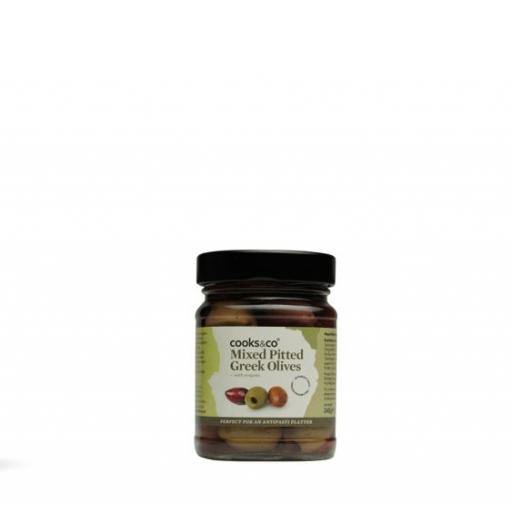Mixed Pitted Greek Olives, 240g