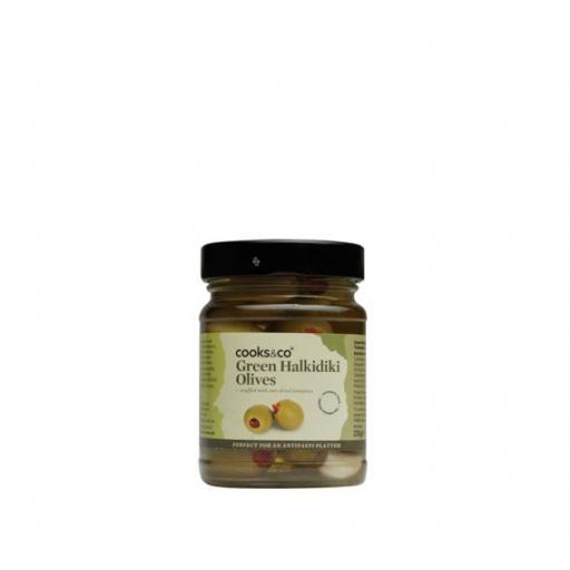 Green Halkidiki Olives, 230g